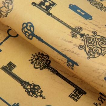 Крафт-бумага для творчества «Ключики-пожелания», А4, 160 гр./кв.м