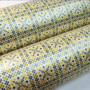 Подарочная бумага «Желто-зеленый орнамент», 49х75 см., 1 лист