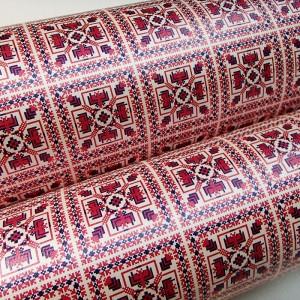 Подарочная бумага «Красно-синий орнамент», 49х75 см., 1 лист