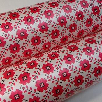 Подарочная бумага «Красные цветы», 49х75 см., 1 лист