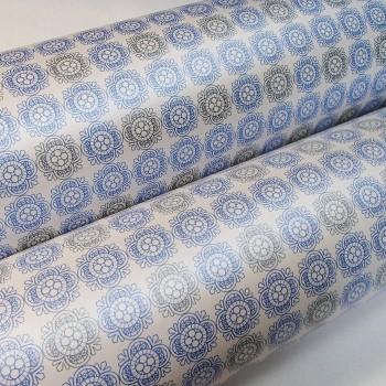 Подарочная бумага «Нежность. Серо-голубой», 49х75 см., 1 лист