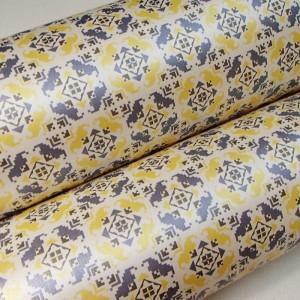 Подарочная бумага «Пиксели. Желтый и голубой», 49х75 см., 1 лист