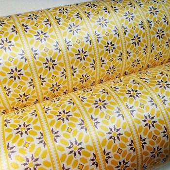 Подарочная бумага «Орнаментальные полосы. Желтый», 49х75 см., 1 лист