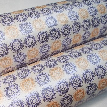 Подарочная бумага «Нежность. Золотисто-голубой», 49х75 см., 1 лист