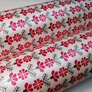 Подарочная бумага «Малиновые цветы», 49х75 см., 1 лист