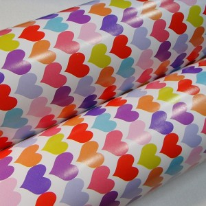 Подарочная бумага глянцевая «Сердечная», 53х75 см., 1 лист
