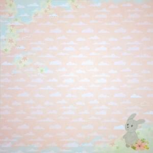 Бумага для скрапбукинга «Розовые мечты», FleurDesign, 30,5х30,5 см., 1 лист