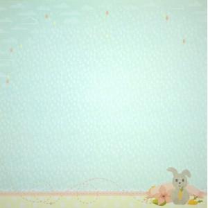 Бумага для скрапбукинга «Дождик», FleurDesign, 30,5х30,5 см., 1 лист