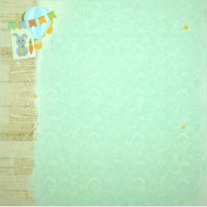 Бумага для скрапбукинга «Путешествие», FleurDesign, 30,5х30,5 см., 1 лист