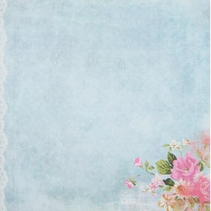 Бумага для скрапбукинга «Восемь утра», FleurDesign, 30,5х30,5 см., 1 лист