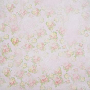 Бумага для скрапбукинга «Цветочная карамель», FleurDesign, 30,5х30,5 см., 1 лист