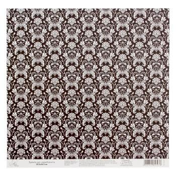 Бумага Арт Узор «Черно-белый паттерн», 29,5х29,5 см., 1 лист