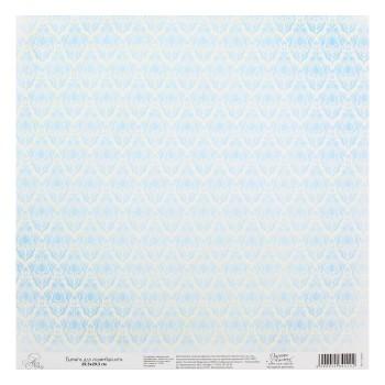 Бумага Арт Узор «Бело-голубой паттерн», 29,5х29,5 см., 1 лист