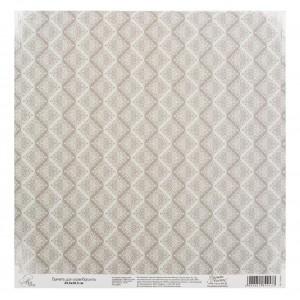 Бумага Арт Узор «Серый паттерн», 29,5х29,5 см., 1 лист
