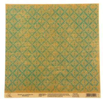 Бумага Арт Узор «Золото и изумруд», 29,5х29,5 см., 1 лист
