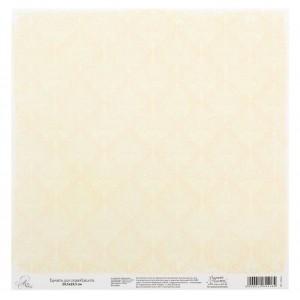 Бумага Арт Узор «Бежевый паттерн», 29,5х29,5 см., 1 лист