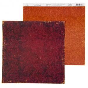 Бумага Арт Узор «Бордовый фон» Восточные сказки, 29,5х29,5 см., 1 лист