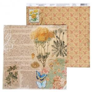 Бумага Арт Узор «Текст» La Botanique, 29,5х29,5 см., 1 лист
