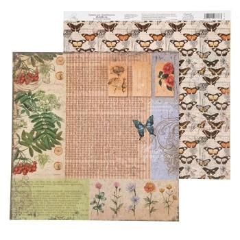 Бумага Арт Узор «Растительный фон» La Botanique, 29,5х29,5 см., 1 лист