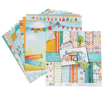 Арт Узор «Счастливое детство» 12 листов, 30,5х30,5см.