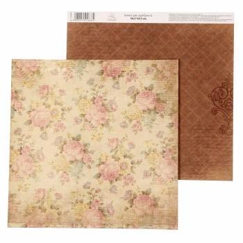 Бумага Арт Узор «Цветы» Наследие нашей семьи, 30,5х30,5 см., 1 лист