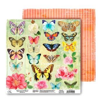 Бумага Арт Узор «Бабочки», 29,5х29,5 см., 1 лист