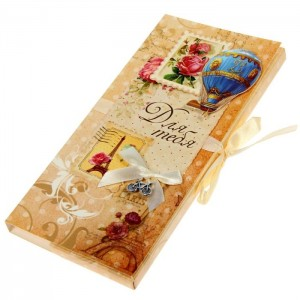 Коробочка-шоколадница «Винтаж» 10х18х2 см.