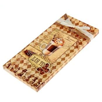 Коробочка-шоколадница «Кофе и шоколад» 10х18х2 см.