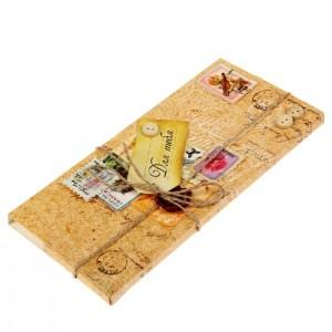 Коробочка-шоколадница «Посылка счастья» 10х18х2 см.