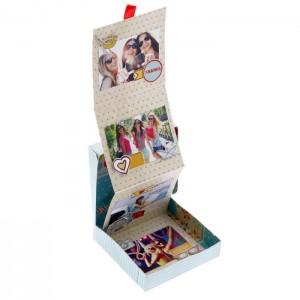 Коробочка для фотографий «Люблю путешествовать» 11х11х2,5 см.
