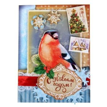 Набор для создания открытки «Снегирь»