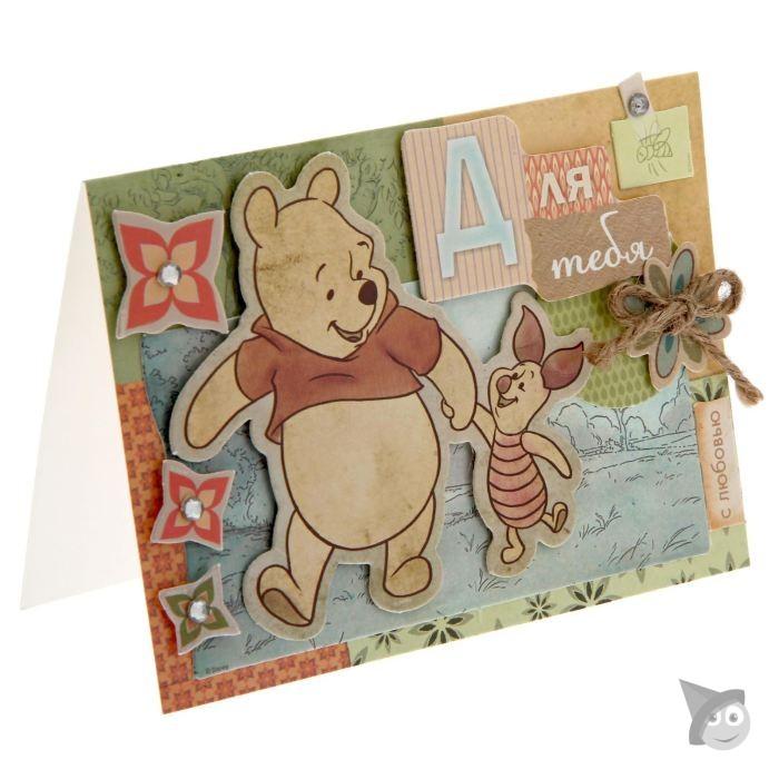 Детский скрапбукинг: открытка