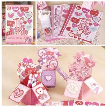 Набор для создания открыток-коробочек «История любви»