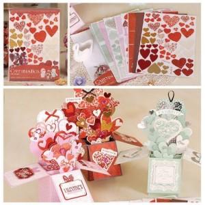 Набор для создания открыток-коробочек «Люблю»