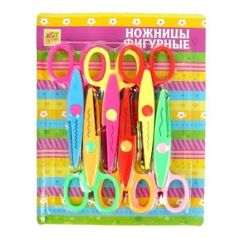 Фигурные ножницы «Цветик», набор из 6 штук