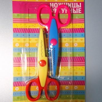 Фигурные ножницы «Цветик», набор из 2 штук (зигзаги)